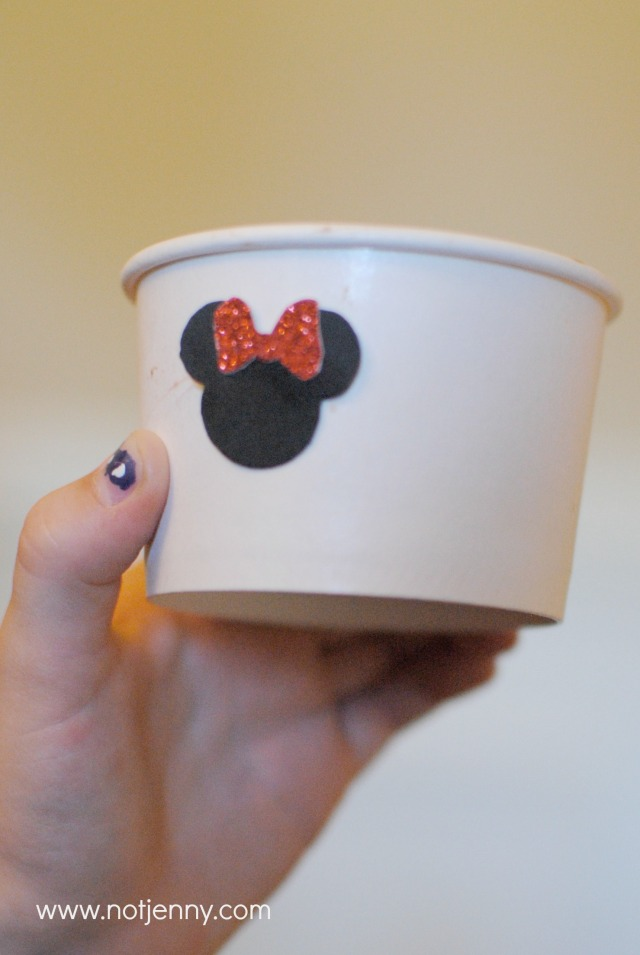 minnie mouse ice cream cup
