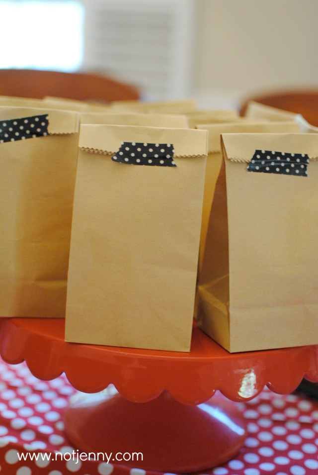 minnie mouse treat bags - notjenny.com